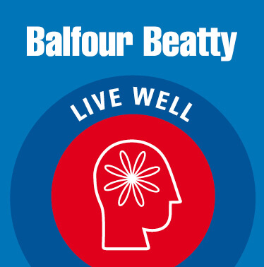 Balfour Beatty: employee live well campaign graphics